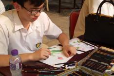 屯門盆景蘭花展覽繪畫寫生比賽活動相片